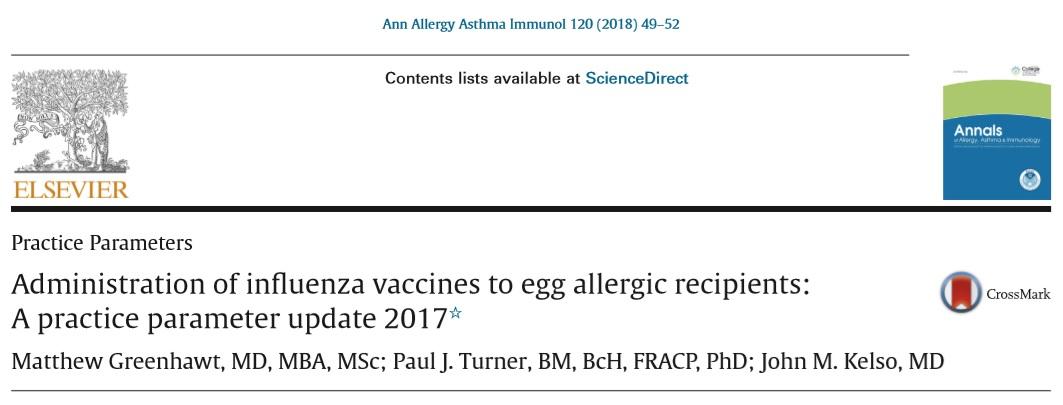 fluワクチンeggアレルギー